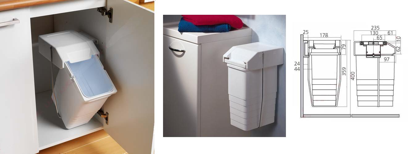 Vuilnisbak Keukenkast Ikea : Afvalemmer – inbouw – afvalemmers – Inbouw afvalemmer – Voor badkamer