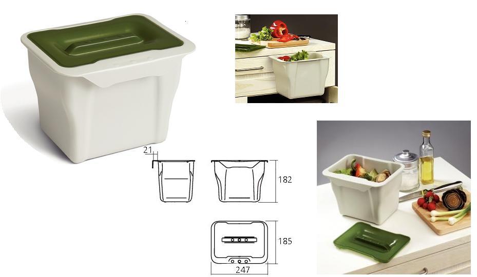 Keuken afvalbak met deksel kleine afvalemmer best hailo inbouw