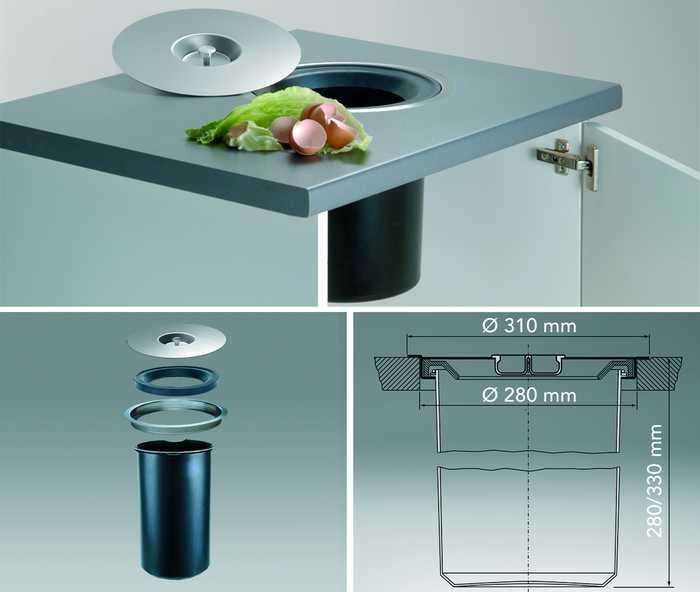 Keuken Afvalbak Inbouw : Keuken, accessoire, vuilbakken, verlichting, buitenrooster – Inbouw