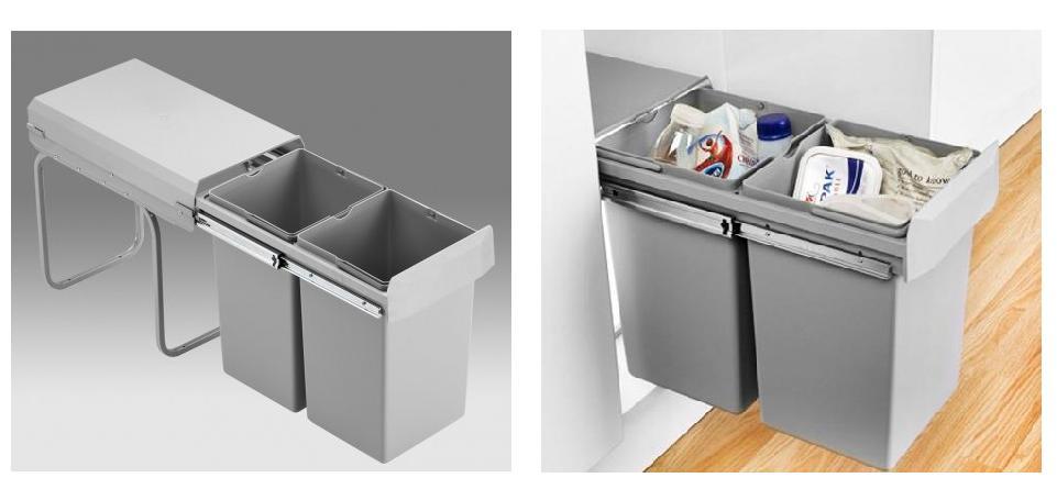 Afvalbak Keuken 50 Liter : Afvalemmer – inbouw – afvalemmers – Afvalemmer kast 30 cm – Draaideur