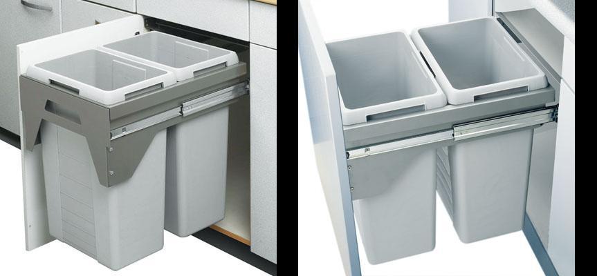 Afvalbak Keuken 50 Liter : inbouw voor kastbreedte 500 mm inhoud 70 liter 2×35 l