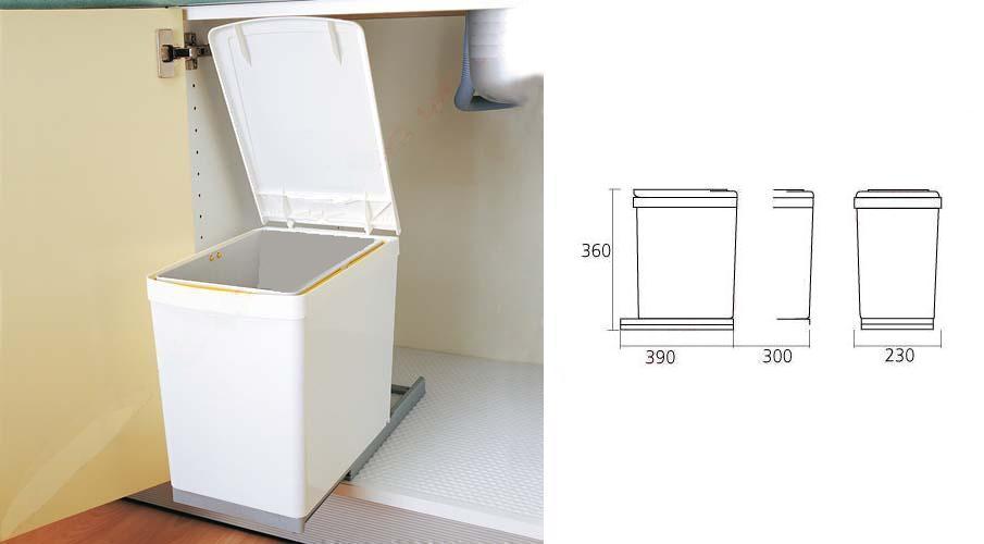 Bekend Afvalemmer - inbouw - afvalemmers - Afvalemmer kast 30 cm - Draaideur ME61